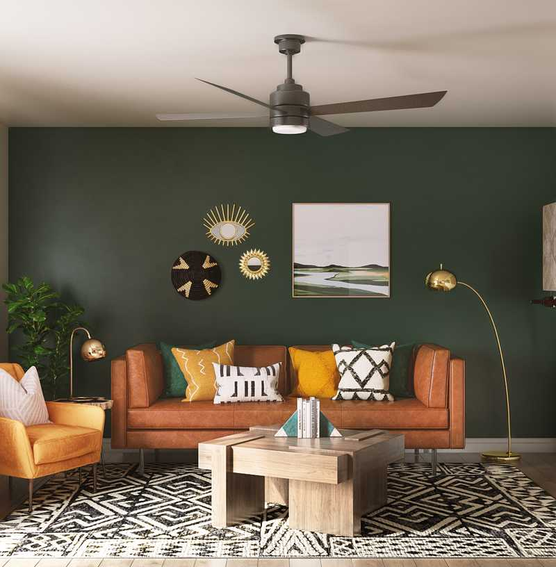 Eclectic, Bohemian Living Room Design by Havenly Interior Designer Catrina