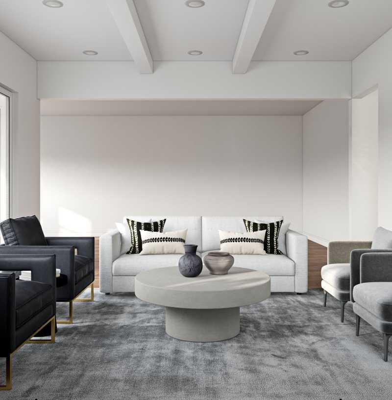 Contemporary, Modern, Glam Living Room Design by Havenly Interior Designer Megan