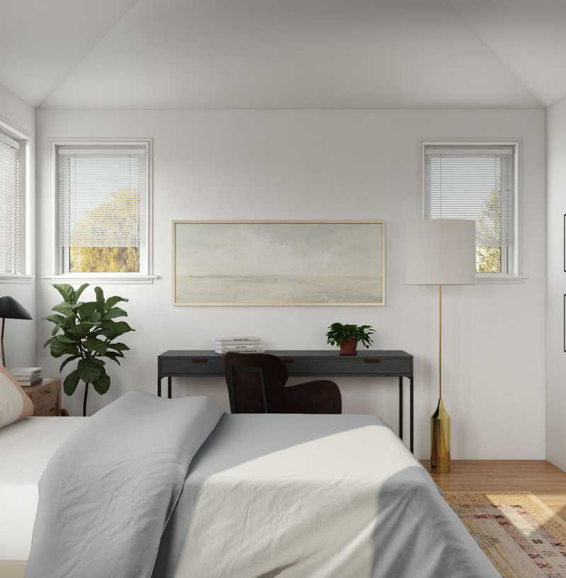 Eclectic, Bohemian, Glam, Transitional Bedroom Design by Havenly Interior Designer Nichole