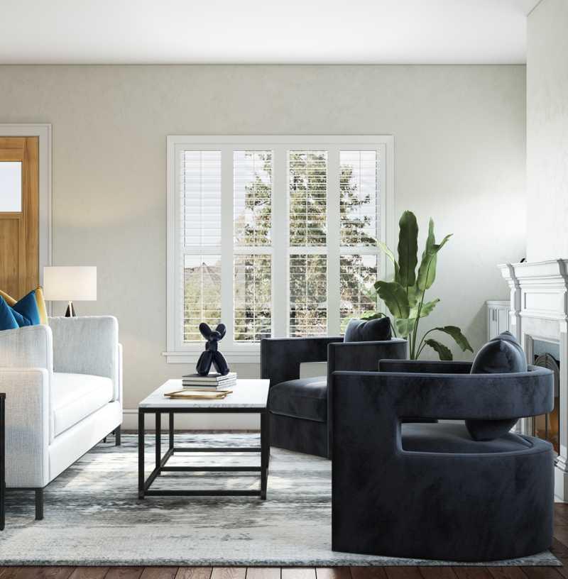Modern, Glam, Midcentury Modern Living Room Design by Havenly Interior Designer Taylor