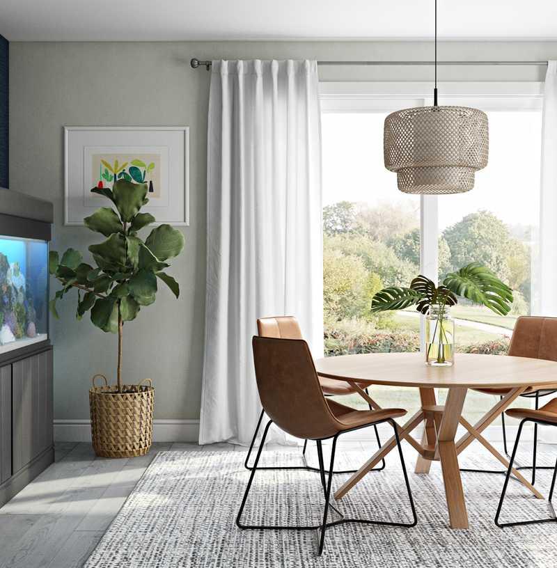 Contemporary, Classic, Farmhouse, Midcentury Modern Dining Room Design by Havenly Interior Designer Amanda