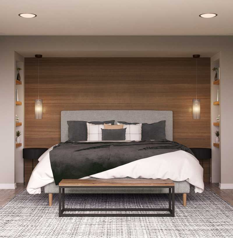 Contemporary, Modern, Industrial, Midcentury Modern Bedroom Design by Havenly Interior Designer Stacy