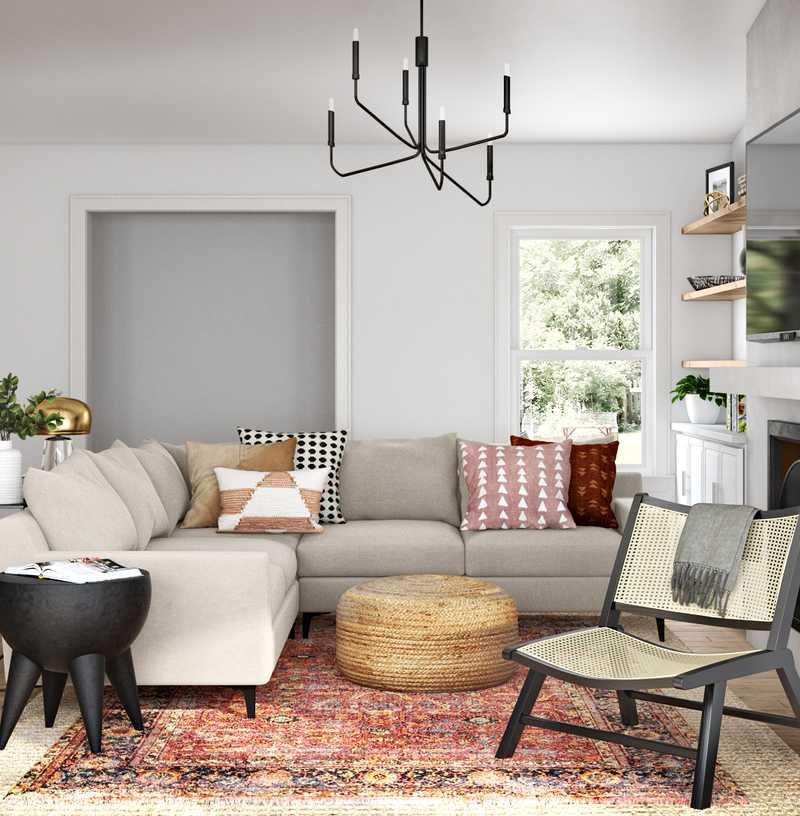 Modern, Scandinavian Living Room Design by Havenly Interior Designer Sophia