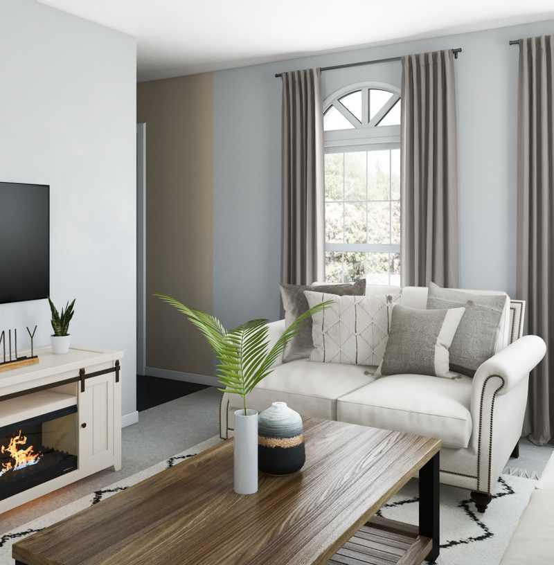 Farmhouse Living Room Design by Havenly Interior Designer Manoela