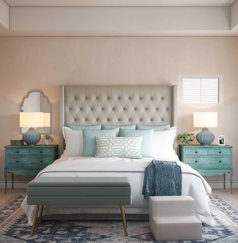 Coastal, Farmhouse, Transitional Bedroom Design by Havenly Interior Designer Arissa