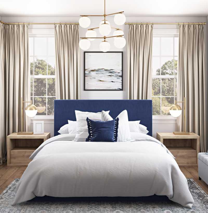Coastal, Traditional Bedroom Design by Havenly Interior Designer Nicole