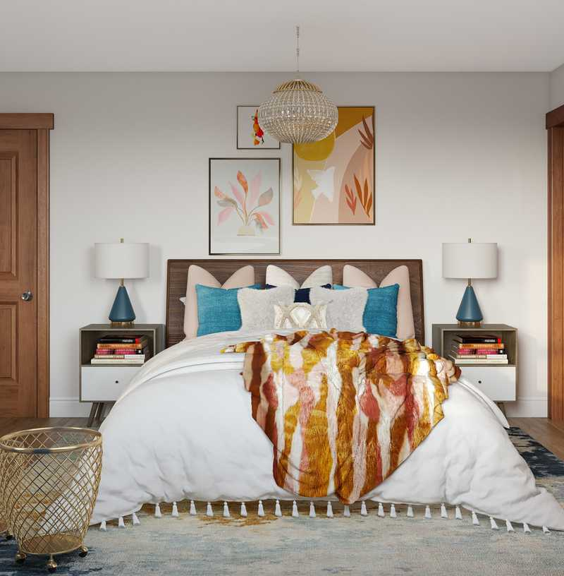 Modern, Bohemian Bedroom Design by Havenly Interior Designer Amanda