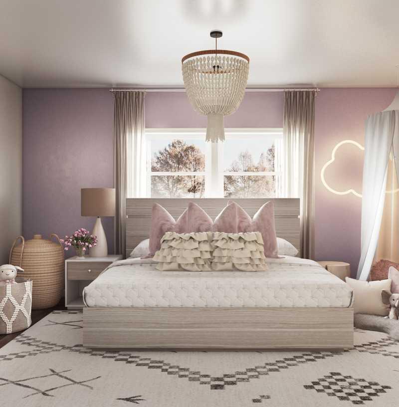 Contemporary, Preppy Bedroom Design by Havenly Interior Designer Dani