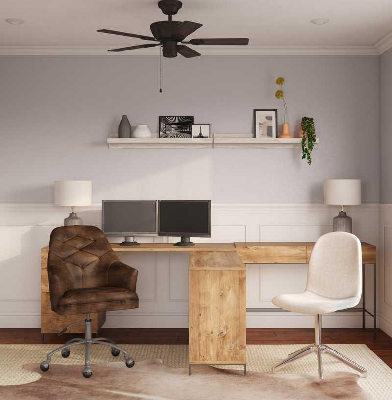 Industrial, Minimal, Scandinavian Office Design by Havenly Interior Designer Catherine