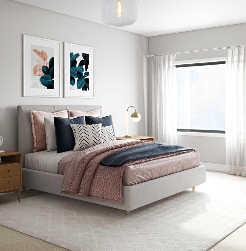 Classic, Midcentury Modern Bedroom Design by Havenly Interior Designer Kelsey