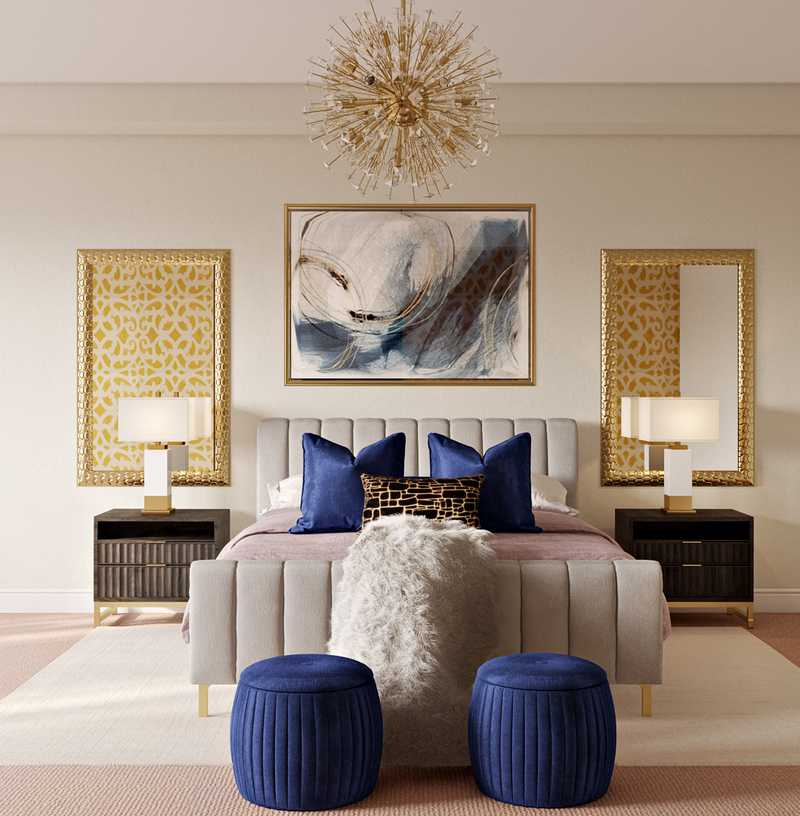 Contemporary, Glam Bedroom Design by Havenly Interior Designer Randi