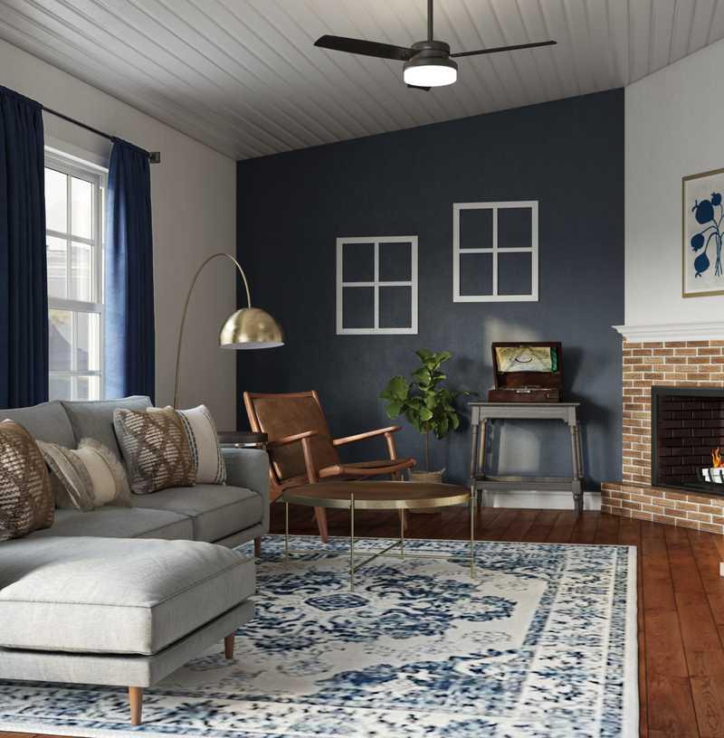 Farmhouse, Minimal Living Room Design by Havenly Interior Designer Chanel