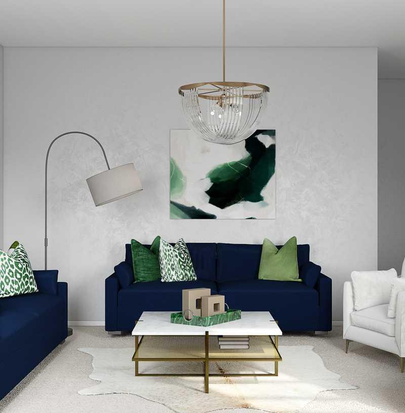 Glam, Transitional, Preppy Bedroom Design by Havenly Interior Designer Kayla