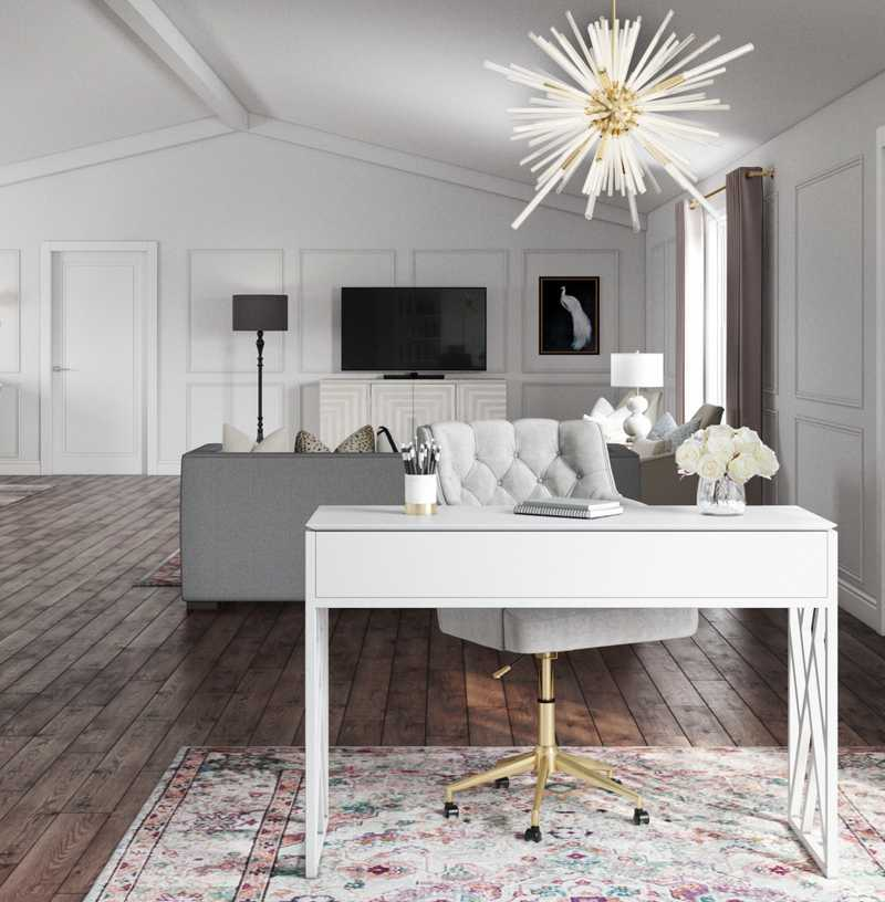 Contemporary, Classic, Glam Living Room Design by Havenly Interior Designer Hannah