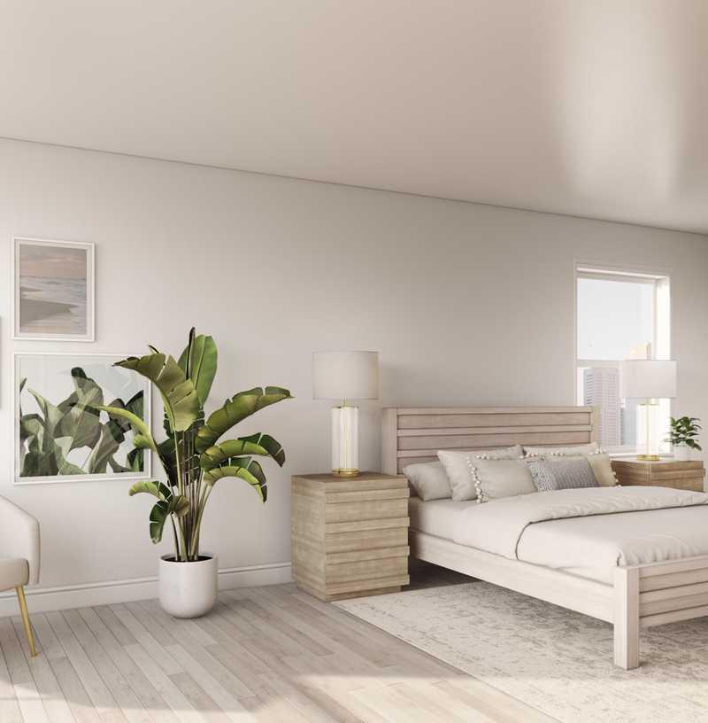 Contemporary, Bohemian, Midcentury Modern Bedroom Design by Havenly Interior Designer Anny