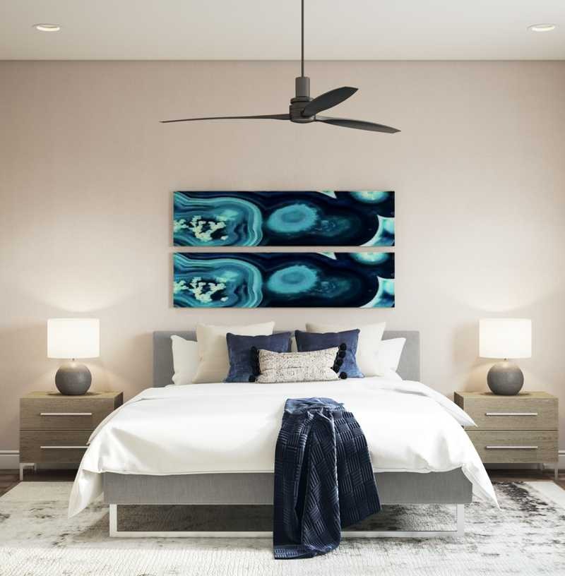 Contemporary, Modern, Midcentury Modern Bedroom Design by Havenly Interior Designer Megan