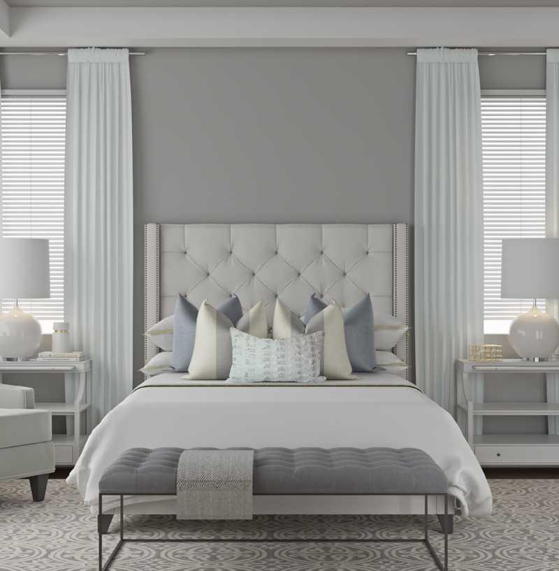 Classic, Glam, Transitional Bedroom Design by Havenly Interior Designer Vivian