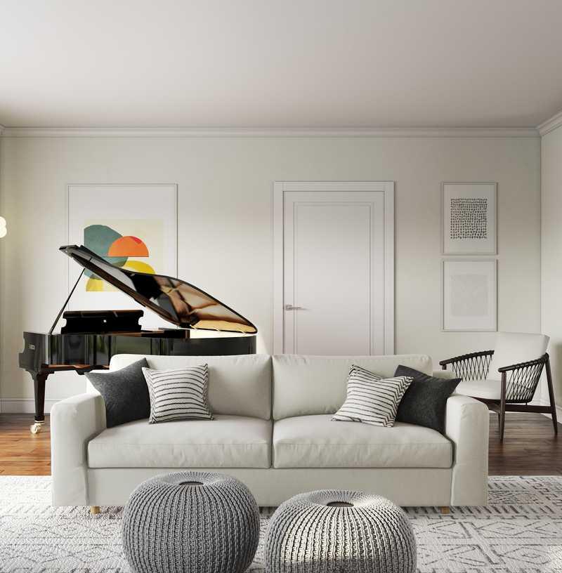 Contemporary, Midcentury Modern Living Room Design by Havenly Interior Designer Kaitlin