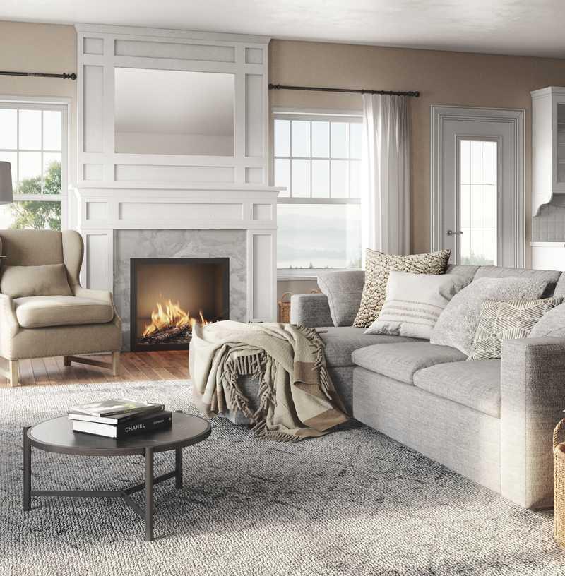 Modern, Farmhouse Living Room Design by Havenly Interior Designer Julie