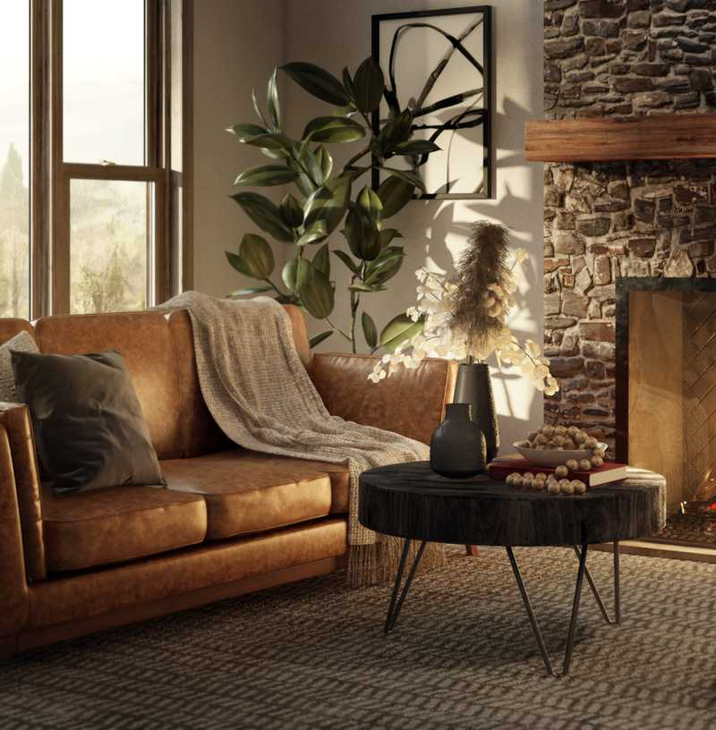 Modern, Rustic Living Room Design by Havenly Interior Designer Lindsay