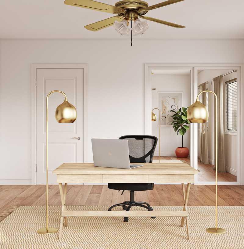 Bohemian, Scandinavian Office Design by Havenly Interior Designer Luisa