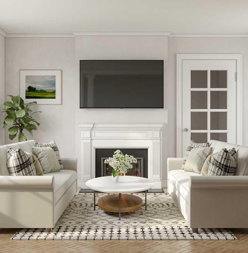 Contemporary, Classic Living Room Design by Havenly Interior Designer Jill