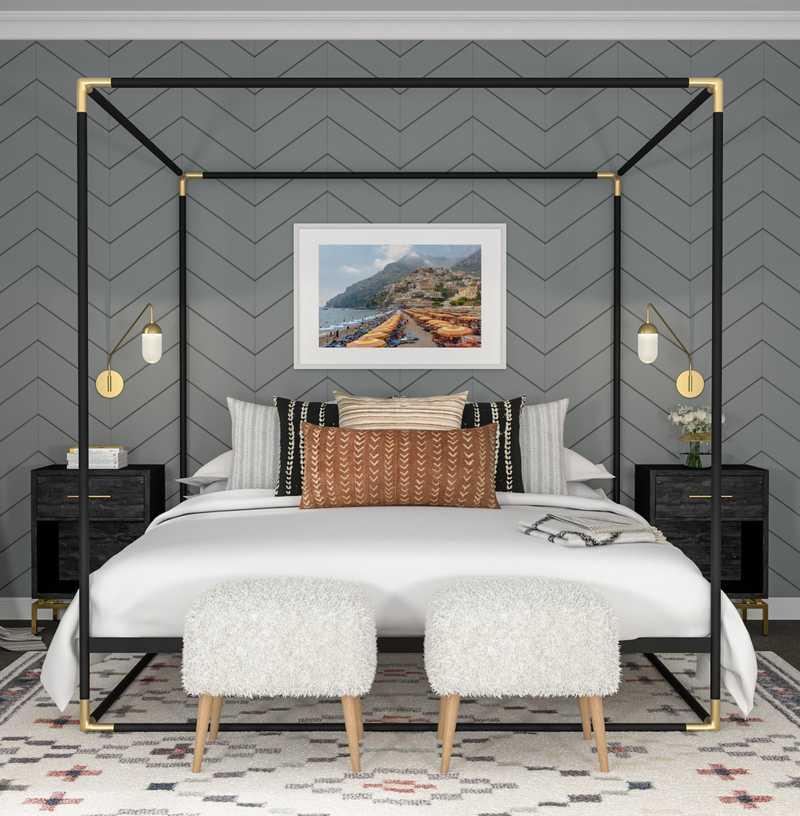 Bohemian Bedroom Design by Havenly Interior Designer Vivian
