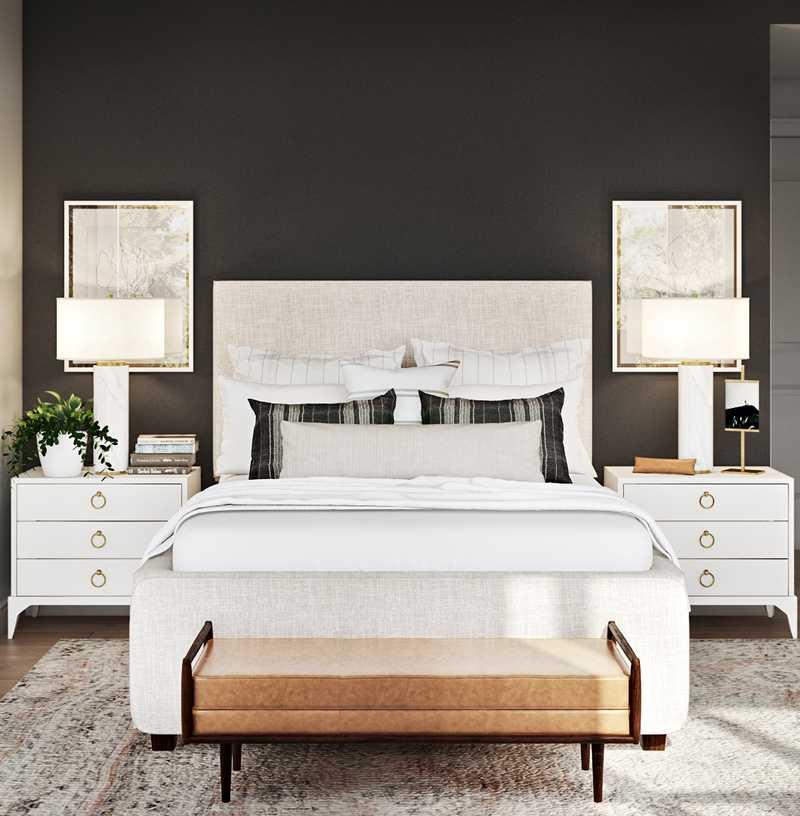 Eclectic, Glam Bedroom Design by Havenly Interior Designer Natalie