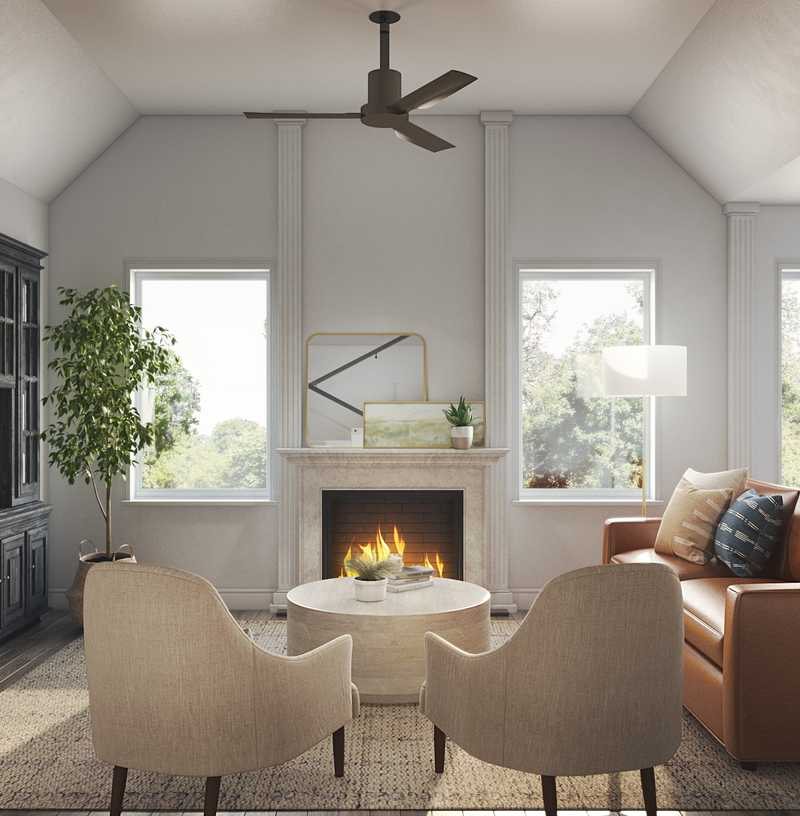 Contemporary, Classic, Coastal, Transitional Living Room Design by Havenly Interior Designer Stacy