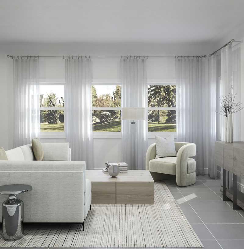 Modern, Glam, Minimal Living Room Design by Havenly Interior Designer Sarah