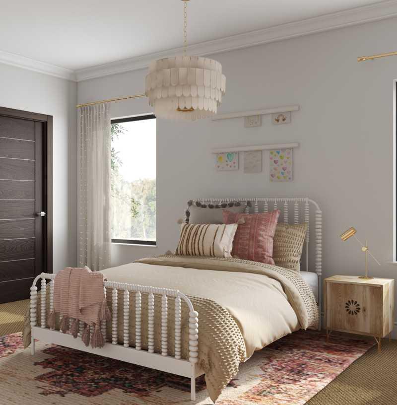 Bohemian, Traditional, Scandinavian Bedroom Design by Havenly Interior Designer Sabra