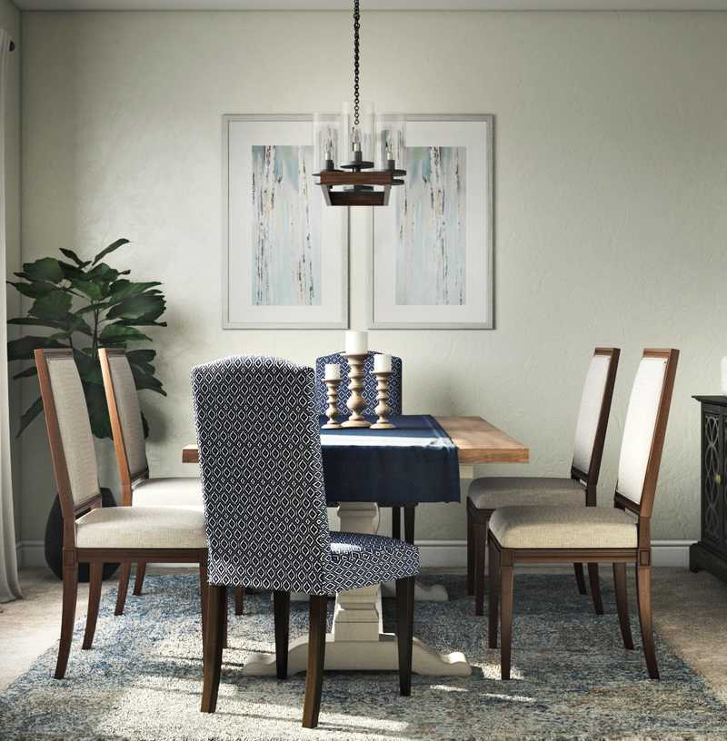Modern, Glam, Rustic Dining Room Design by Havenly Interior Designer Laura