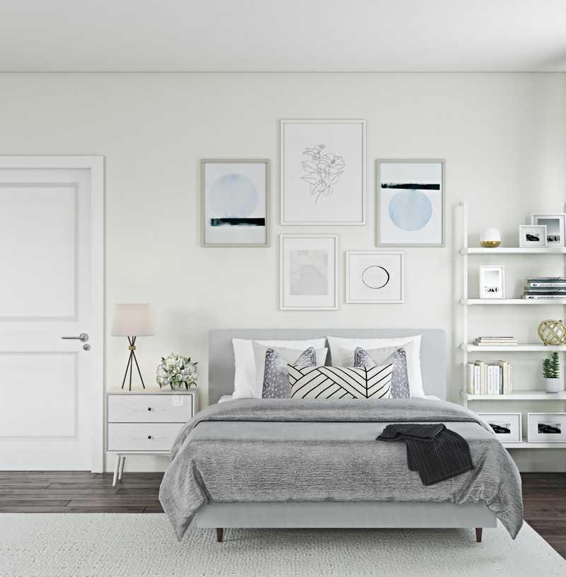 Bohemian, Midcentury Modern, Minimal, Scandinavian Bedroom Design by Havenly Interior Designer Christine