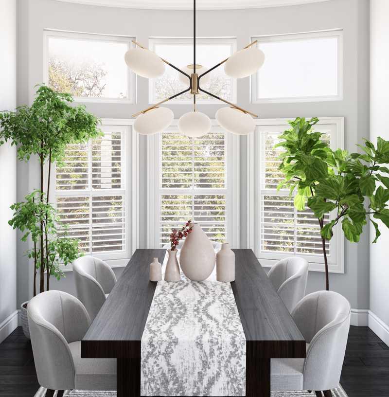 Contemporary, Modern, Minimal Dining Room Design by Havenly Interior Designer Kasey