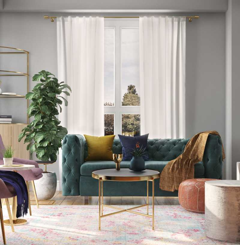 Contemporary, Eclectic, Glam Living Room Design by Havenly Interior Designer Apoovra