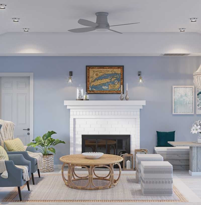Coastal Living Room Design by Havenly Interior Designer Kelsey