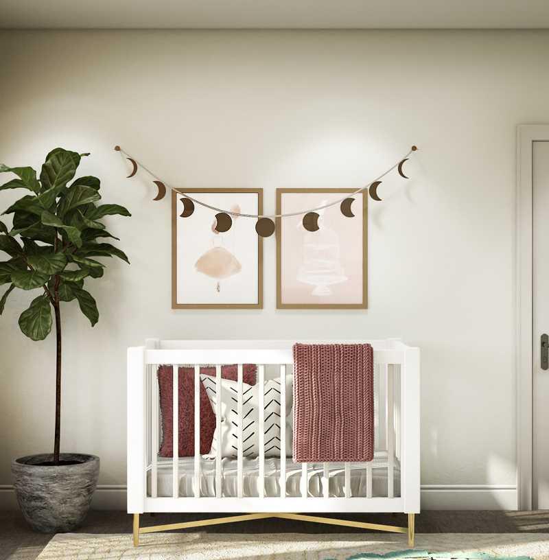 Bohemian, Midcentury Modern, Scandinavian Nursery Design by Havenly Interior Designer Kyla