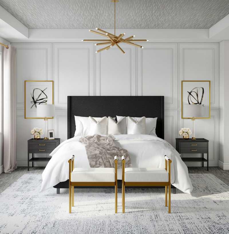 Contemporary, Modern, Minimal Bedroom Design by Havenly Interior Designer Karen