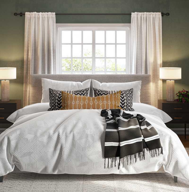 Bohemian, Midcentury Modern, Scandinavian Bedroom Design by Havenly Interior Designer Ella