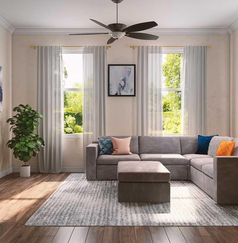Glam, Preppy Dining Room Design by Havenly Interior Designer Samantha