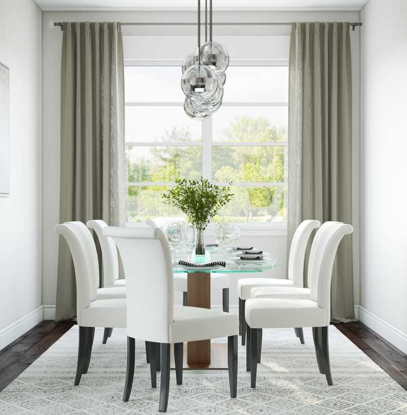 Contemporary, Modern, Midcentury Modern Dining Room Design by Havenly Interior Designer Julie