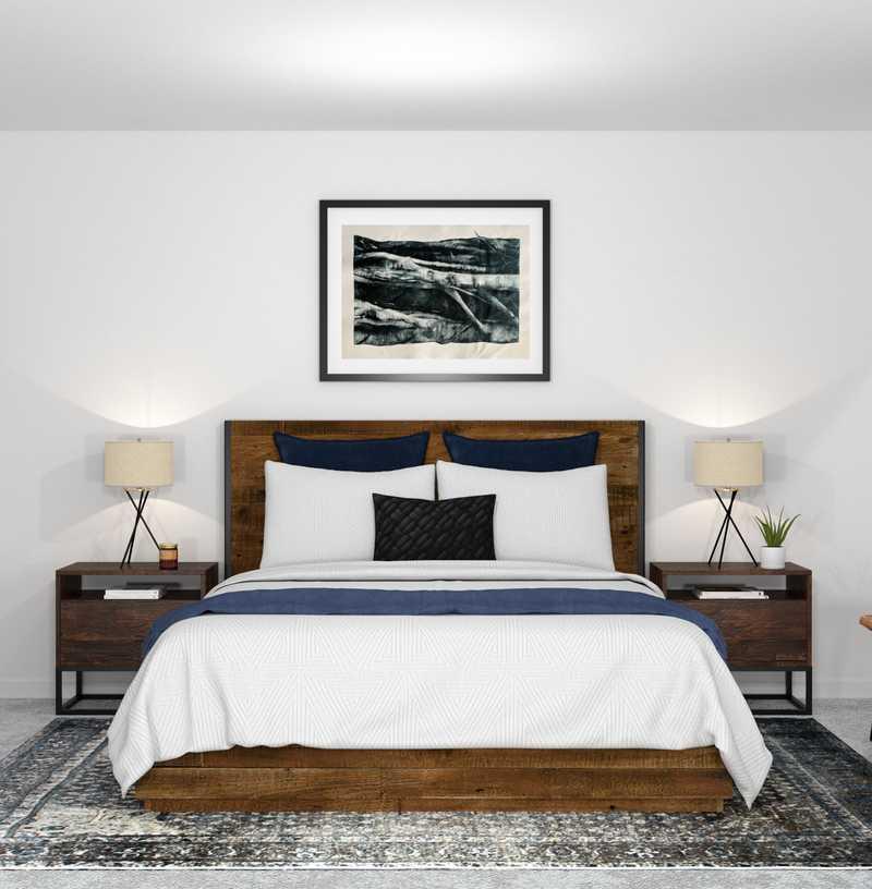 Industrial, Rustic Bedroom Design by Havenly Interior Designer Kelly