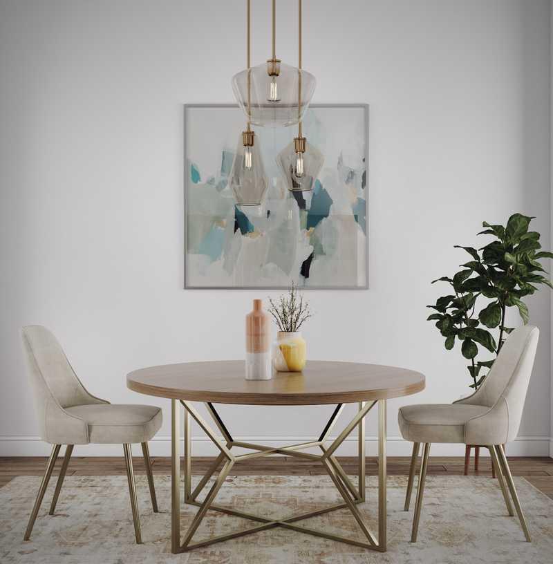Modern, Bohemian, Scandinavian Dining Room Design by Havenly Interior Designer Vana