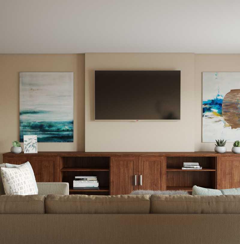 Coastal Living Room Design by Havenly Interior Designer Junya