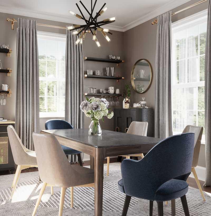 Contemporary, Modern Dining Room Design by Havenly Interior Designer Samantha