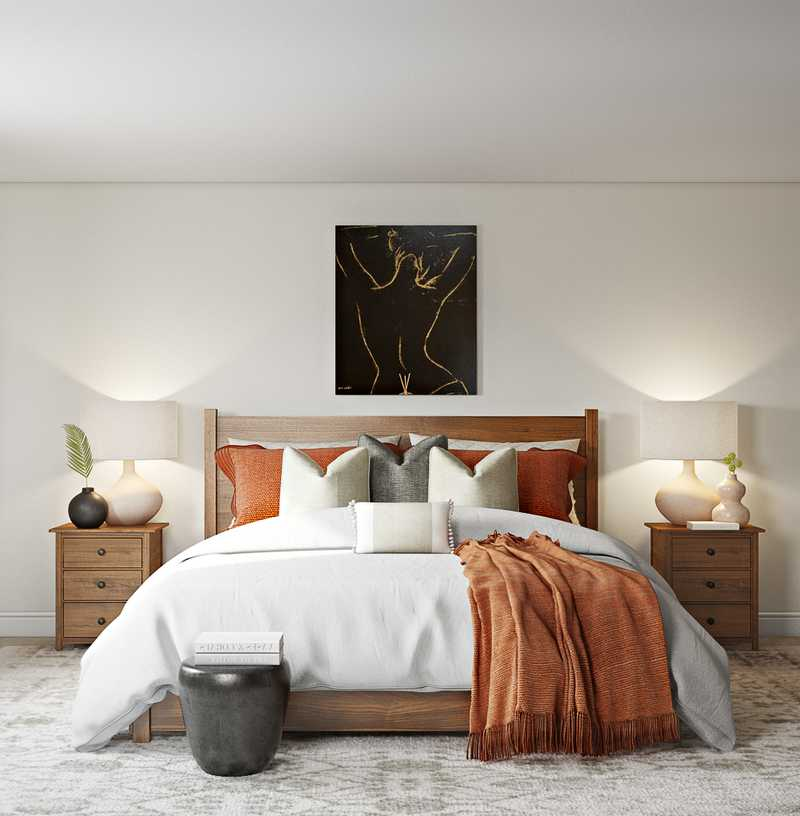 Eclectic, Transitional Bedroom Design by Havenly Interior Designer Stacy