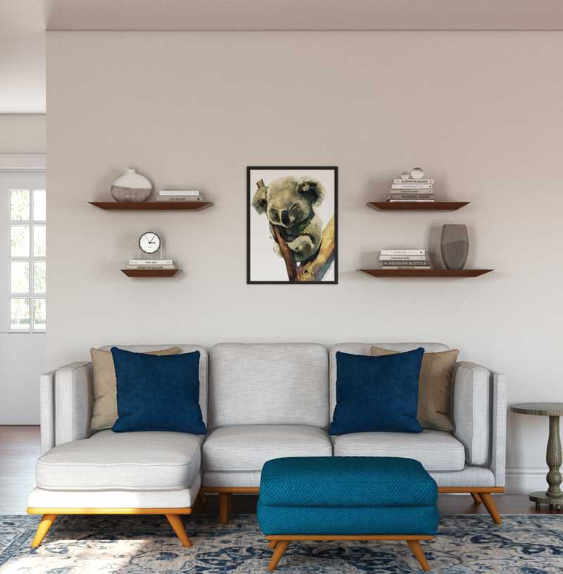 Modern, Bohemian, Midcentury Modern Living Room Design by Havenly Interior Designer Laura