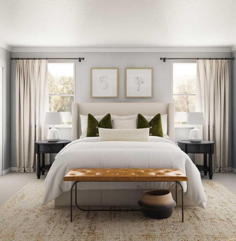 Classic, Transitional Bedroom Design by Havenly Interior Designer Erin