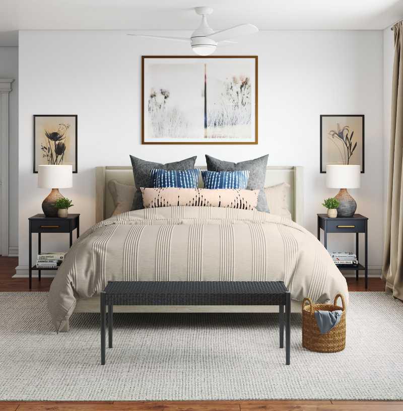 Classic, Eclectic, Bohemian Bedroom Design by Havenly Interior Designer Lauren