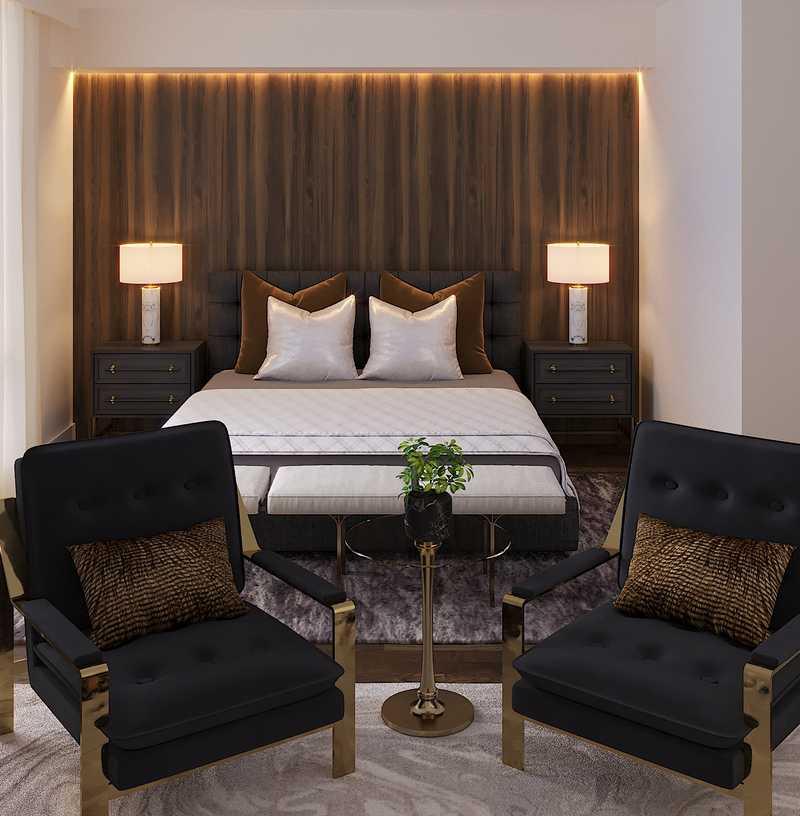 Contemporary, Glam Bedroom Design by Havenly Interior Designer Amy